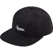 SUPREME Fitted Lightweight Cord 6-Panel Black Box Logo camp floral safari S/S 14