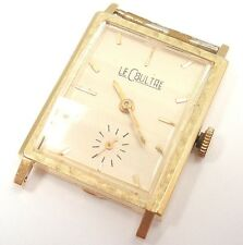 VINTAGE LeCOULTRE 14K YELLOW GOLD MANUAL WIND WATCH