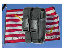 New Black Universal Double/Single Stack-Dual Pistol Mag-Magazine-Utility Pouch