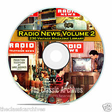 Radio & TV News, Electronics World, Vol 2, 230 Vintage Magazines PDF DVD B83
