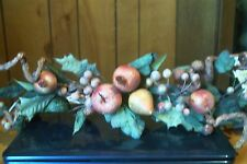 FRUIT AND GRAPEVINE WALL HANGING SWAG WITH BIRDS NEST(HOME INTERIORS) 24 INCHES