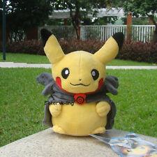 "Pikachu With Black Rayquaza Suit 8"" Pokemon Go Plush Toy Hat Stuffed Animal Doll"