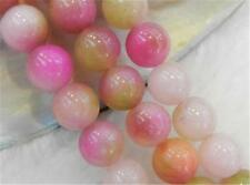 "8mm Pink Multicolor Kunzite Round Gemstone Loose Beads 15""##QF557"