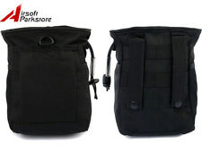 Tactical Military Paintball Molle Magazine Mag Dump Drop Small Pouch Bag Black