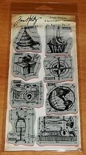 HOLTZ STAMPERS ANONYMOUS RUBBER STAMPS BLUEPRINTS 1 ~ Globe,camera  wks CTMH bks