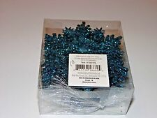 20 Turquoise Glitter Snowflake Ornaments Christmas Tree Holiday Decoration