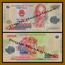 Vietnam (Vietnamese) 200000 (200 Thousand) Dong (1/5 Million), Polymer Unc