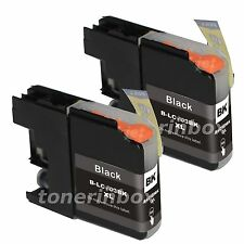 2 Pk LC103 LC-103 Black Ink Cartridge For Brother MFC-J470DW J6920DW DCP-J152W