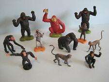 Britains plastica zoo animali: GORILLA APE SCIMMIA CHIMPANZEE Collection