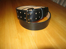 CUSTOM MADE GENUINE LEATHER BELT 1 3/4'' WIDE (DOUBLE PRONG BUCKLE) BLACK