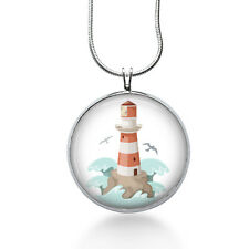Lighthouse Necklace- Nautical Necklace -Sailor Jewelry-Lighthouse Pendant-beach