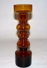 Scandinavian Amber Art Glass Hoop Vase