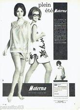 PUBLICITE ADVERTISING 116  1965  Materna  vetements maternié grossesse été