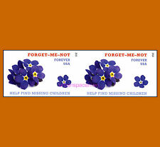 4987a Missing Children Imperf Pair (2 stamps) from Press Sheet No Die Cuts