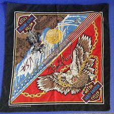 Harley Davidson Bandanna Break Away Red Blue Bald Eagle Motorcyle Desert USA