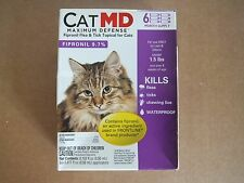 Cat MD Maximum Defense Flea Tick Topical Treatment Cats 6 pack