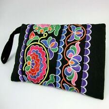 Hmong Vintage Thai Indian Ethnic hand cosmetic bag Hobo hippie card holder 223