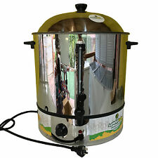 Hot Water Urn Soup Warmer or Coffee Urn Food Steamer 30Lts Stainless Steel 2000w