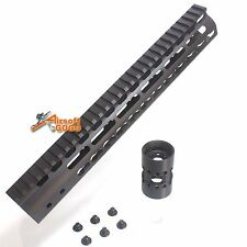 "CNC Aluminum 12"" KeyMod Rail Handguard for Marui G&P APS SR M Series Airsoft AEG"