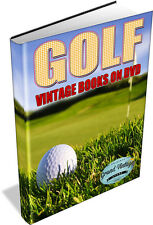 Golf Collection 147 Vintage Books on DVD - Club Putter Techniques Greens Iron