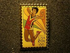USPS STAMP DESIGN PIN TRACK EVENT 1984 OLYMPICS NICE PIN