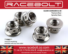 Suzuki GSXR1000 01-08 Rear Sprocket Nut Kit - Racebolt Titanium Race Spec