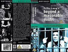 Fritz Lang's Beyond A Reasonable Doubt Video Promo Sample Sleeve/Cover #15900