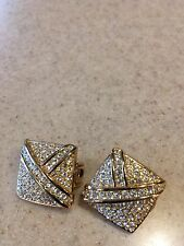 Christan Dior clip Ear Rings marked
