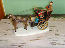 GUC Lemax Village Collection Poly-Resin Handom Cab Winter horse Christmas piece