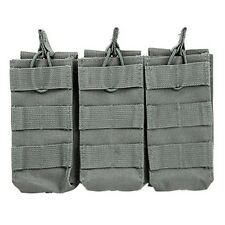 NcSTAR Tactical 5.56mm Triple Magazine Bungee Cord Pouch w/ MOLLE Urban Gray