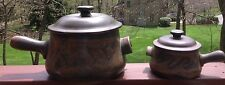 2 Stoneware Handcrafted By Stoneware Designs West SDW 2 Pottery With Lids