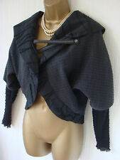 COCOMENTHE GREY JACKET 3  UK 10 12 UNUSUAL BALERO