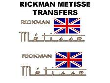 RICKMAN METISSE TANK TRANSFERS DECALS MOTORCYCLE SOLD AS A PAIR TRIUMPH