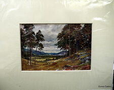 Vintage Print Sutton Palmer mounted to frame c1912 Grampians Inverness-shire
