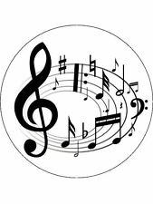 """7.5"""" Musical Notes Personalised Edible PRE-CUT ICING Cake Topper"""