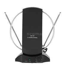 Digital Indoor Amplified TV HDTV DTV Antenna UHF VHF FM High Gain 50 MILE Black