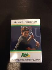 2011 Ace Roger Federer Match Worn Jersey Shirt Relic Booklet W/ Set of 32 Cards