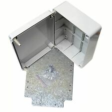 240mm junction box with steel mounting plate weatherproof cable enclosure IP56