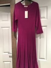ABSOLUTELY STUNNING FUCHSIA KNITTED DRESS PER UNA BNWT 12