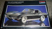 MONOGRAM 1965 CORVETTE COUPE STREET MACHINE 1/24 MODEL KIT OPEN