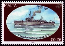 HMS RYE (J76) Bangor Class Minesweeper Warship WWII Malta Convoys Stamp