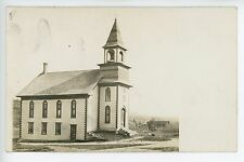 Greensboro VT Methodist Church Antique RPPC Photo ca. 1910s CYKO