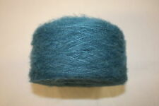 100g balls,  Mixed Fibre - 2ply - Brushed Mohair Style Knitting Yarn - Turquoise
