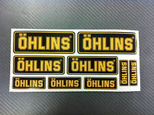 Kit 9 Adesivi Sticker OHLINS Black & Yellow