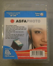 (PRL) AGFAPHOTO HP 344 CARTUCCIA INCHIOSTRO INK CARTRIDGE COLOUR 21 ML PHOTO NEW