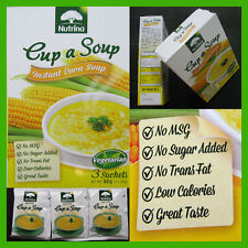 Instant Corn Soup Vegetarian With sweet corn No MSG ,No Sugar, 1 Box = 3 Sachets