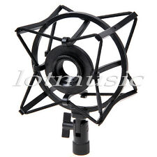 Black Microphone Holder Spider Shock Mount Condenser avoid Vibrations