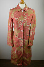 Gorgeous women's Boden floral silk & linen trench style dress coat size 10