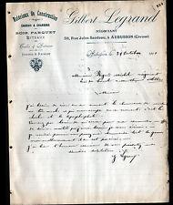 """AUBUSSON (23) MATERIAUX de CONSTRUCTION CHARBON ENGRAIS """"Gilbert LEGRAND"""" 1907"""
