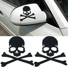 Fashion Skull Design 3D Decoration Sticker For Car Side Mirror Rearview BK
